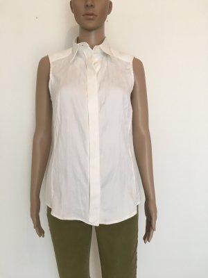 Gianfranco Ferré Sleeveless Blouse white-natural white cotton