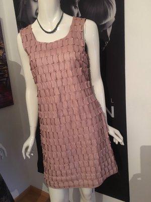 Dannenmann Leren jurk stoffig roze