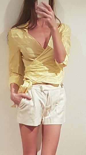 Luxus Designer Shorts von Missoni Cremeweiß Seide Leinen ibiza boho hippie sommer kurze Hose hot pants