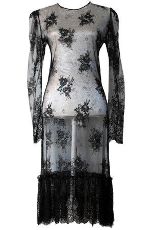 *  Luxus  Designer  Spitzen  Kleid  *  Gr. M  *