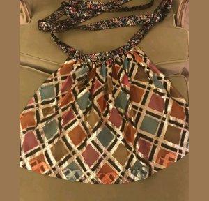 Grembiule tradizionale arancione chiaro-grigio-verde Fibra tessile