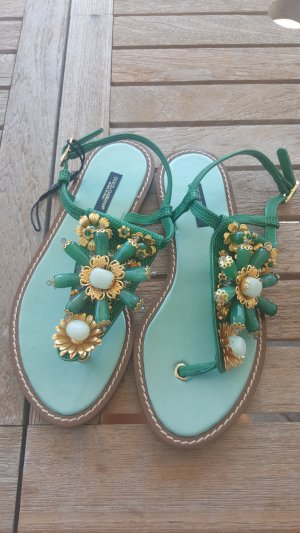 Luxus Dolce Gabbana Zehentreter Sandalen Flip Flops