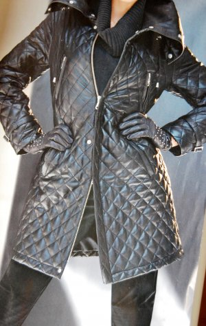 Luxus-Echt-Lederjacke, schwarz, von Madeleine, Gr.40