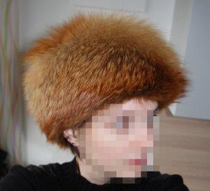 Luxus Echt Pelz Fuchs Vintage Russen Mütze