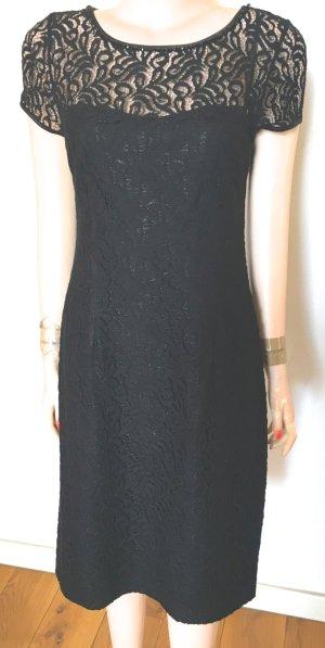 Escada Robe de cocktail noir tissu mixte