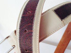 Luxus Etro Ledergürtel Muster echtes Leder made in Italy
