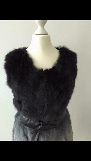 Smanicato di pelliccia grigio chiaro-nero