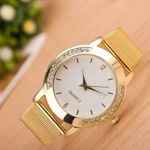 Luxus frauen Uhren Kristall Voller Stahl Gold Uhr Reloj Mujer Clock Mode Uhr Damen Uhren Relogio feminino Dourado