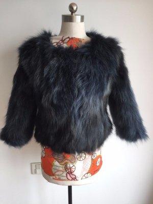 Giacca di pelliccia nero-antracite Pelliccia