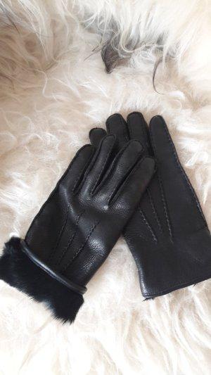 René Lezard Gevoerde handschoenen zwart