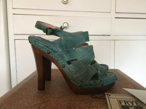 Frye High Heel Sandal turquoise-dark brown leather