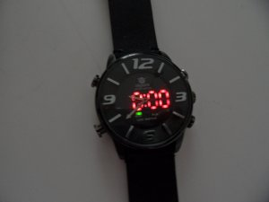Luxus Herren Analog Sport Armbanduhren Steel Case Quartz Leder Wrist Watch