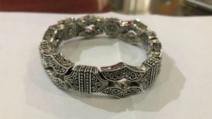 Luxus Herrenarmband 925 Sterling Silber Handarbeit Unikat