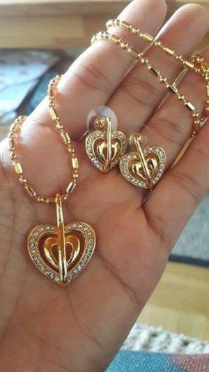 Luxus-Herz Zirkonia Halsketten-Ohr Shaped setzt
