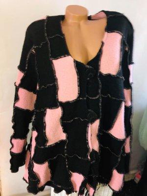 Jersey largo negro-rosa claro tejido mezclado