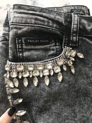 Luxus Jeans Philipp Plein Größe 26 mit Strass NEU