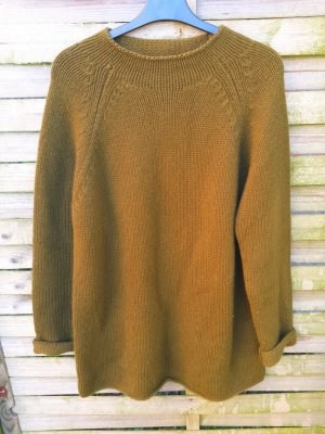 Luxus Joe Taft Swiss Cashmere Pullover Moosgrün ca 5-6 Fäden gr 40. W. Neu
