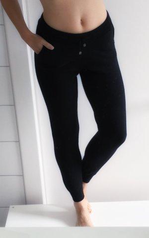 Luxus Kaschmir Merinowolle Jogginghose legere Hose schwarz XS