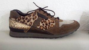 Luxus Kenner Schmenger Turnschuh Sneaker Animalische Print  Leo Fell w.Neu Gr 39