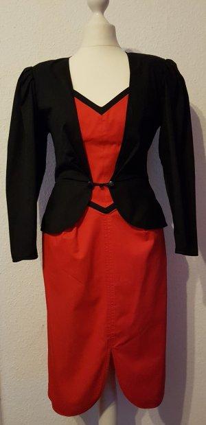 Emanuel Ungaro Robe épaules nues noir-rouge