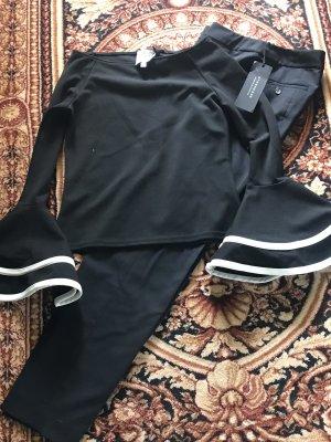 Strenesse Gabriele Strehle Pantalon à pinces noir-blanc