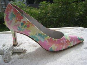 Luxus Limited Edition Bezaubernde Blütenschühchen Pastell Perlmutt G. 5 NP 239 € Top
