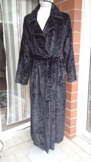 Luxus  Mantel Ferre Italy Wintermantel Pelzmantel w. Nerz Fake Fur 40 Schwarz