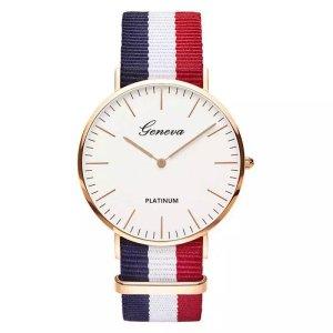 Luxus Marke Nylonband Uhren 2018 Mode Lässig Quarzuhr Frauen Kleiden Uhr