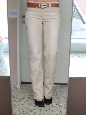 Luxus Marken Cambio Jeans Hose gerader Schnitt straight Nlkl Größe 38 M Beige Nude
