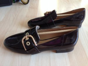 Luxus Michael Kors Lederballerina Gr. 39 Slipper, Chocolate