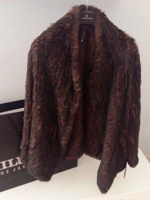 Luxus MILESTONE Neu Kaninchen Fell Pelz Jacke NP 450€