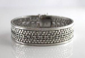 Luxus Modernist Vintage echt Silberarmband 835 Silber edel Juwelierstück