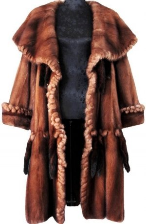 Cappotto marrone Pelliccia