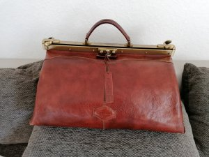 Marc Picard Weekender Bag cognac-coloured leather