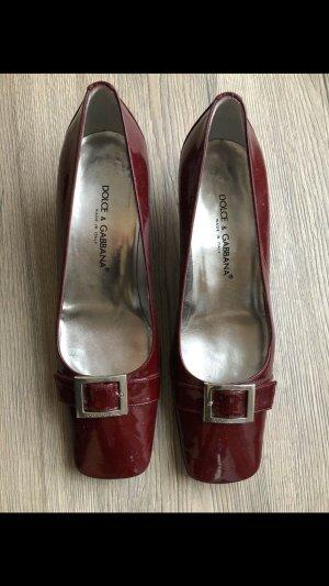 Dolce & Gabbana Wedge Pumps bordeaux