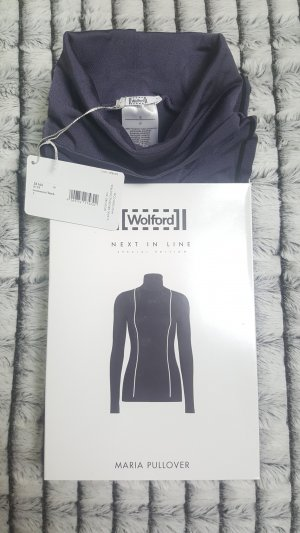 LUXUS PUR: WOLFORD Pullover MARIA XS, monument-black, NEU&OVP 195,00