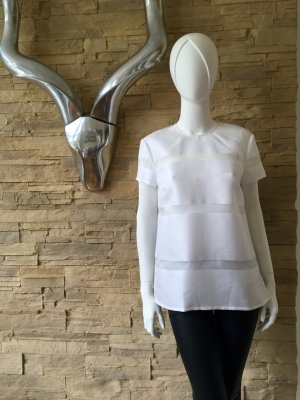 LUXUS - RALPH LAUREN BLACK Bluse Shirt Seide Transparenz - weiß - NP 650 €