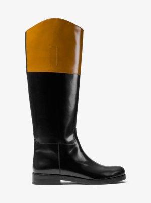 Luxus! Rar! Michael Kors Bianche Runaway Lack Stiefel Gr. 39 NP 995€!!