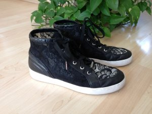 Luxus Sneaker Michael Kors schwarz-weiß,Leder, Gr.40, transparent