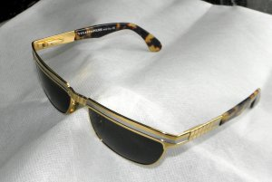 Police Retro Glasses multicolored metal