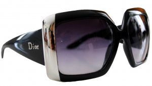 Dior Gafas de sol negro-color plata Material sintético