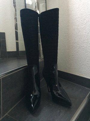Balenciaga Heel Boots black leather