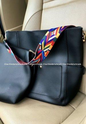 Luxus Tasche . Eine große und eine kleine gratis dazu in Schwarz Umhängetasche