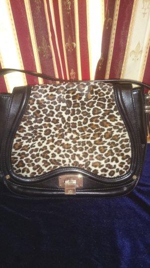 Luxus Tasche ICEBERG Leder Schwarz Damentasche  Bag