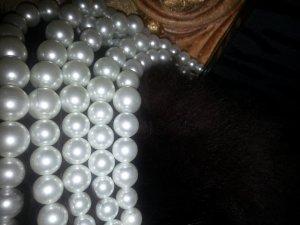 LUXUS***   Tiffany-Style  Elegantes Perlencollier   5-reihig*** Alfredo Pauly