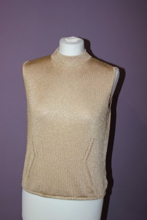 St. John Knitted Top gold-colored mixture fibre
