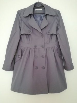 Luxus Trenchcoat Mantel in Taupe von Edina Ronay LONDON. Größe 40-42.