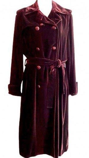 *  Luxus  Velvet  Trenchcoat  *  Gr. M-L  *   NEU  mit  Etikett  *