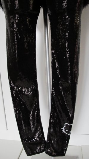 ♛ Luxus Victoria Casal Kitty Leggings schwarz Pailletten Gr. 34 XS ♛  NP 169,-€