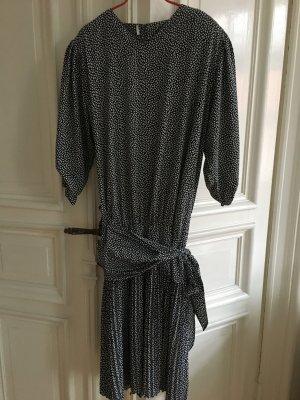 Luxus Vintage Valentino Designer Kleid Sommerkleid Wickeloptik Schleife Plissiert Plissee